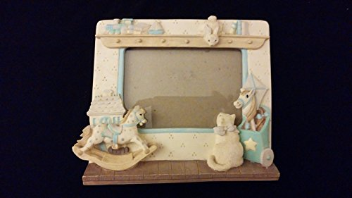 Resin Standing Picture Frame Rocking Horse Cat Boat Train Nursery Baby Photos