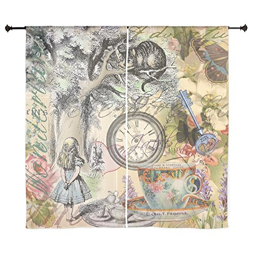 CafePress - Cheshire Cat Alice In Wonderland Curtains - 60 Decorative Window Curtains Sheer Drapery Window Treatment