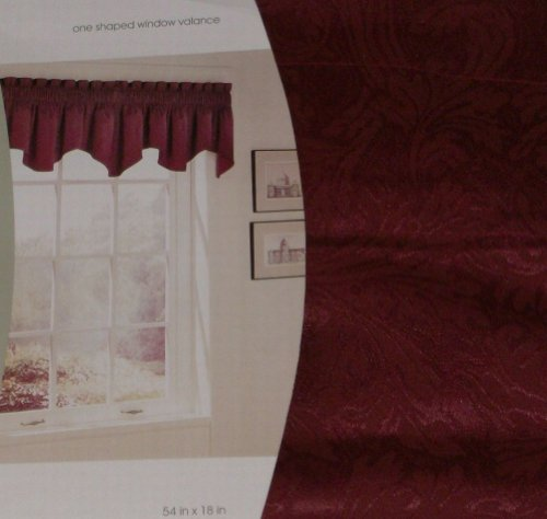 Home Shaped Window Valance Luxury Rich Red Curtain Topper