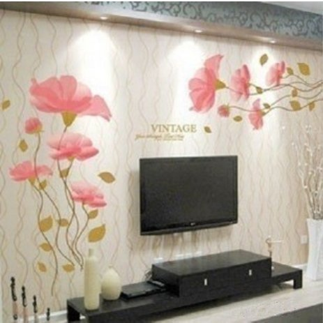 DIY Removable lotus flower Home room Decor Removable Wall StickerDecal by Sky Buddy
