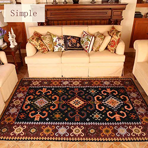 Wolala Home European Style Lattice Living Room Area Rug Abstract Design Bedroom Bedside Carpet Home Decorator Floor Rug 46x66 A