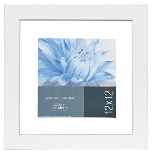 GALLERY SOLUTIONS 12x12 White Float Frame For Floating Display of 10x10 Image 14FW1256