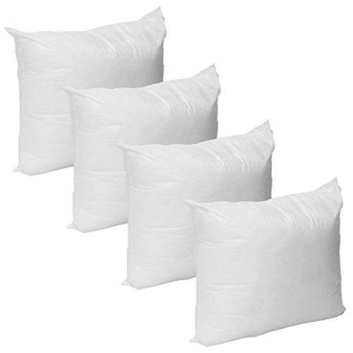 Green Team Linens Pack of 4 30 x 30 Pillow Inserts for Decorative Bed Pillow Shams Sofa Couch - Premium Plush Fiber Fill - Machine Washable